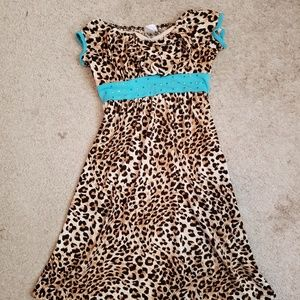 Girl's Justice Animal print dress